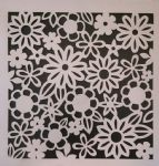 2 x flower design stencil sheets for walls / card making Mylar 350 mic plastic